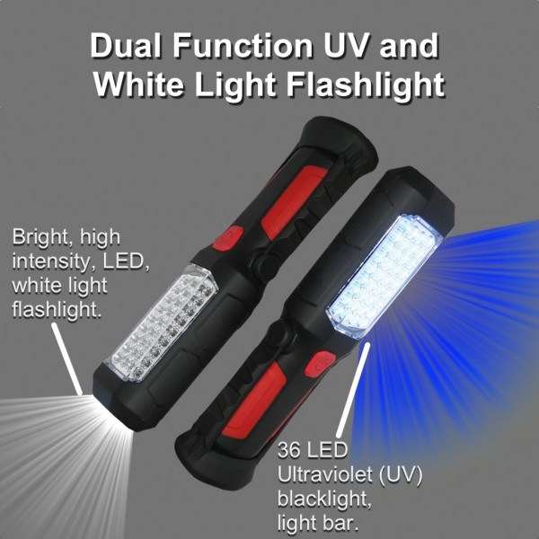Dual Function UV and White Light Flashlight