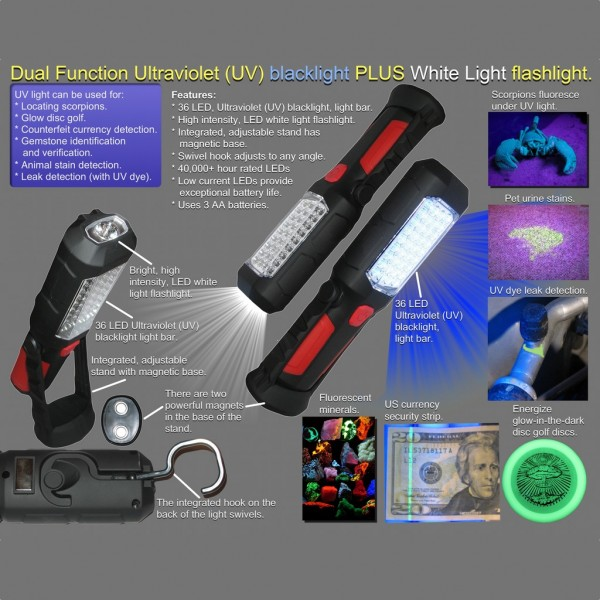 UV Light and Flashlight Features
