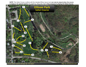 Ellison 18 Hole Safari Map.