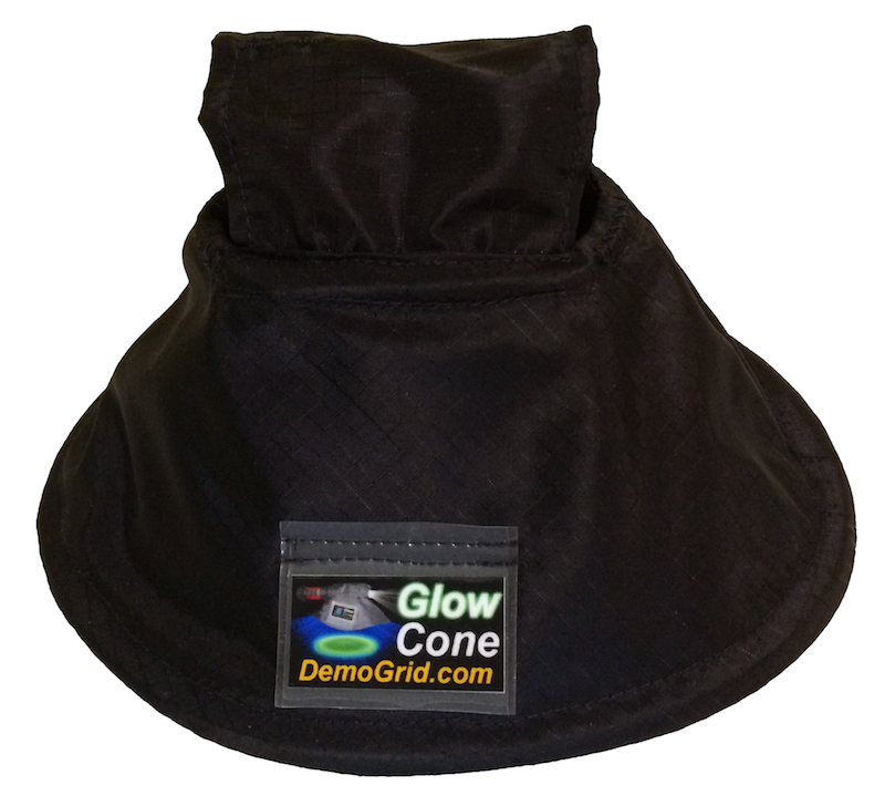 Glow Cone attachment for UV and White LED flashlight.
