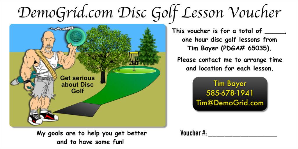 Disc Golf Gift Certificate