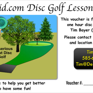 Disc Golf Gift Certificate
